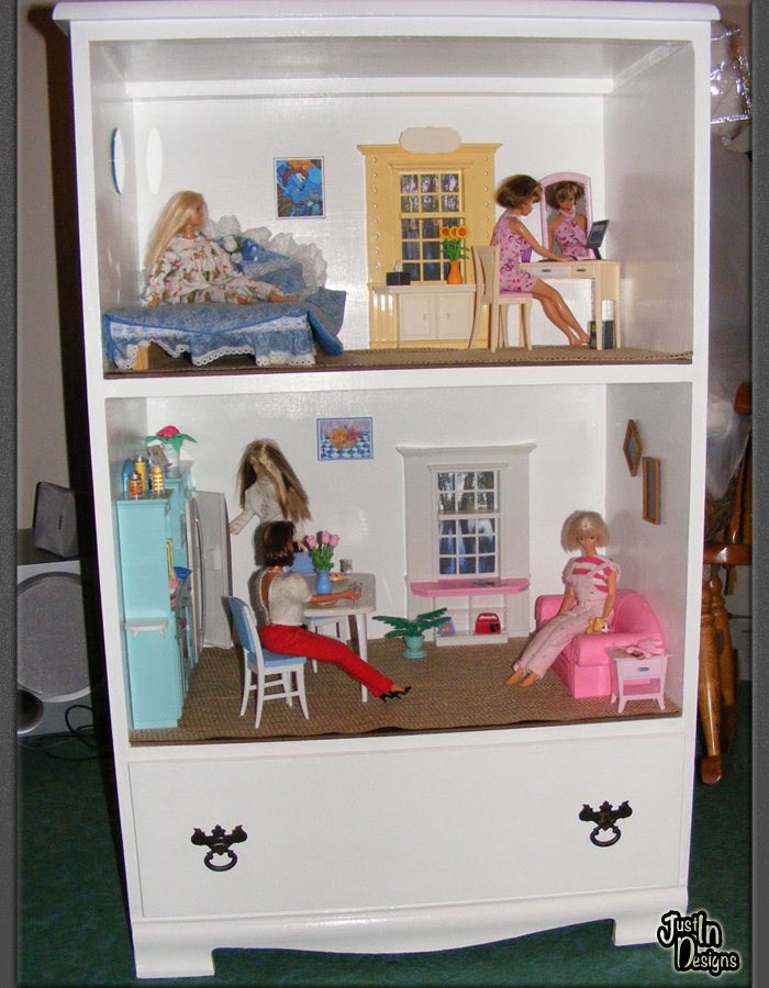 Building A Barbie Doll House With A Recycled Dresser From Just In