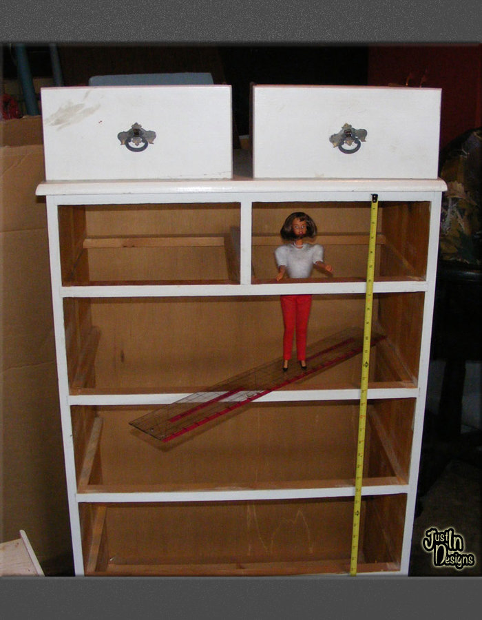 Building A Barbie Doll House With A Recycled Dresser From Just'In Awesome Make Your Own Barbie Furniture Property